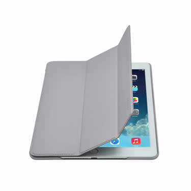 d376c4031aa Slim-Fit PU Case for iPad Air 2 - Gray